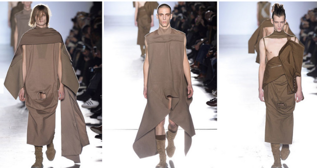Rick Owens sends male models down runway pantless