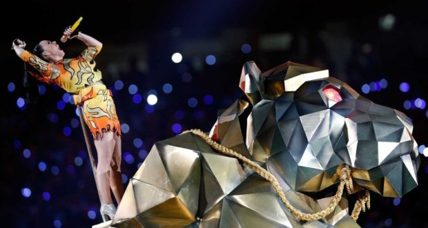 Katy Perry performs at the halftime show